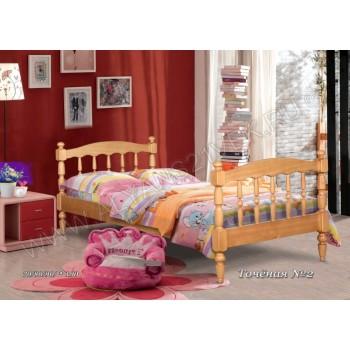 Кровать точеная-2 одноярусная