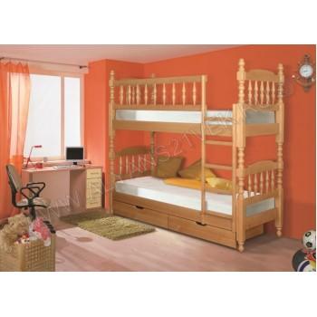 Кровать точеная двухъярусная