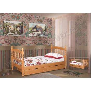 Кровать точеная одноярусная