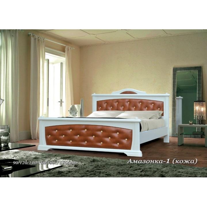 Кровать Амазонка (Кожа)