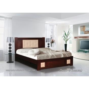 Кровать Лион (Кожа)