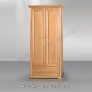 Шкаф 2ств, с овальной рамкой